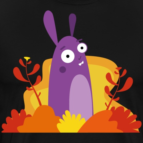 Hase Kaninchen Illustration Herbst - Männer Premium T-Shirt