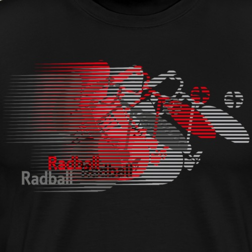 Radball | Earthquake Red - Männer Premium T-Shirt