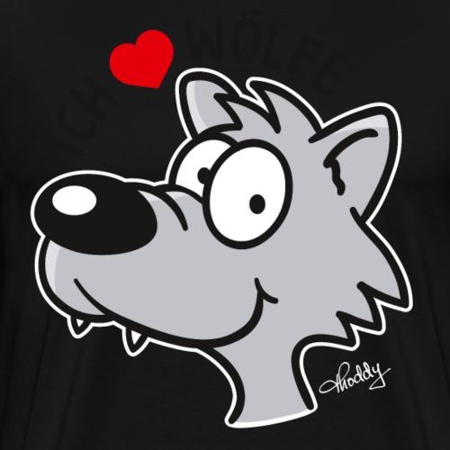 Ich liebe Wölfe - Männer Premium T-Shirt