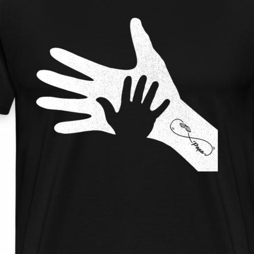 Handabdruck Vater Kind Infinty Tatoo Vatertag - Männer Premium T-Shirt