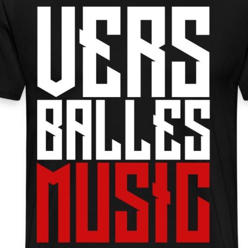 T-Shirt VERS BALLES MUSIC #2 - Femme (noir) - T-shirt Premium Homme
