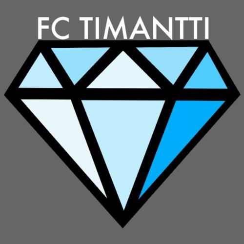 FCTimantti logo valkteksti futura - Miesten premium t-paita