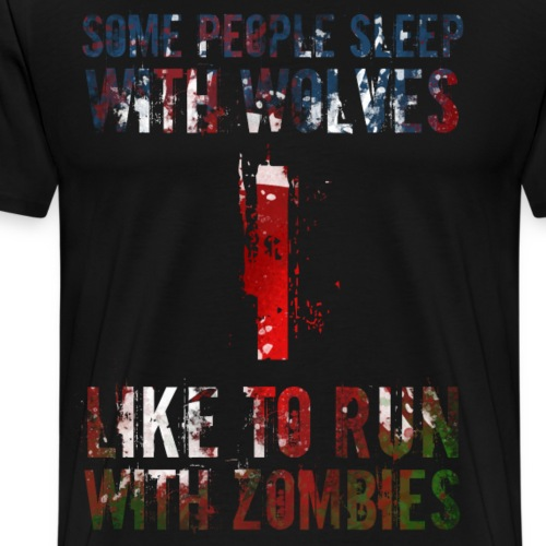 Wolves Zombies - Premium-T-shirt herr