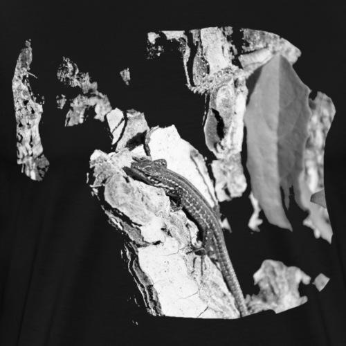 Eidechse auf Felsen - Männer Premium T-Shirt