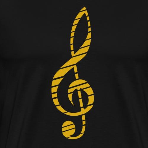 Goldenes Musik Schlüssel Symbol Chopped Up - Men's Premium T-Shirt