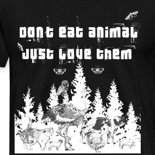 Tier Liebhaber Vegetarier Veganer - Männer Premium T-Shirt
