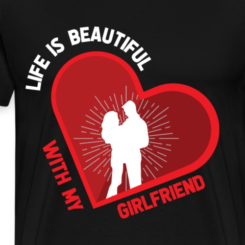 Freundin Geliebte Liebe Valentinstag - Männer Premium T-Shirt