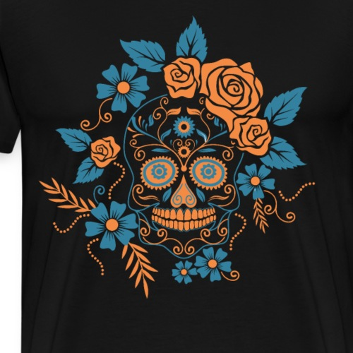 Mexikanischer Totenkopf mexikanisch Karneval - Männer Premium T-Shirt