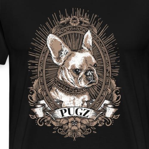 Mops Möpse Hund Hunde Portrait Vintage Retro Pugs - Männer Premium T-Shirt