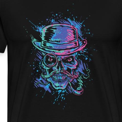 Werstern Schädel Totenköpf Vintage Retro - Männer Premium T-Shirt