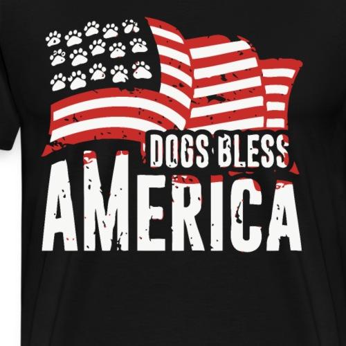 Hund und Hunde segnen Amerika Illustration - Männer Premium T-Shirt