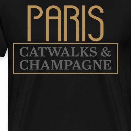 Paris, Fashion Catwalk & Champagner - Männer Premium T-Shirt