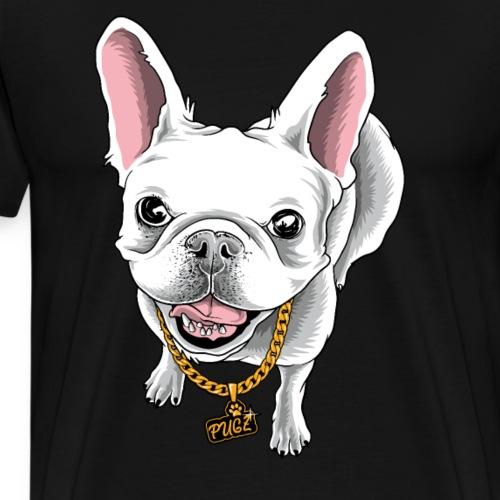 Mops wie ein Boss Chef Möpse Pug Pugs - Männer Premium T-Shirt