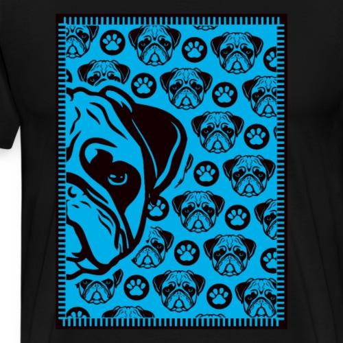Mops Möpse Muster Hund Hunde süß - Männer Premium T-Shirt