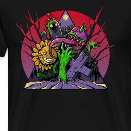 Pflanzen und Zombies Pflanze gegen Zombie - Männer Premium T-Shirt