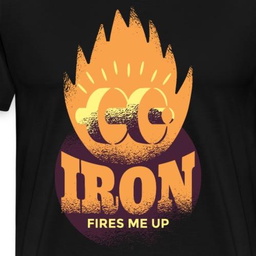 Eisen Feuer feuert mich an Bodybuilding Fitness - Männer Premium T-Shirt