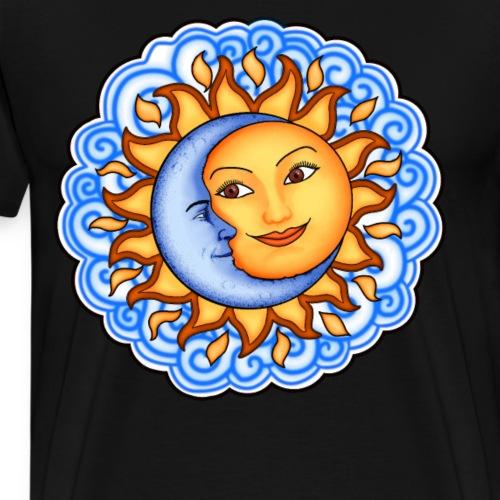 Bestes Sonnen und Monddesign online - Männer Premium T-Shirt