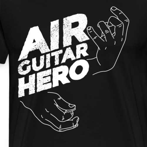 Cartoon Luftgitarren Held Design - Männer Premium T-Shirt