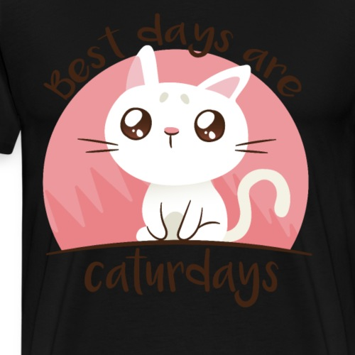 Bestes Caturday Design - Männer Premium T-Shirt