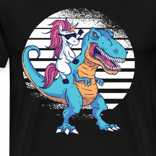 Cartoon Einhorn T Rex Design - Männer Premium T-Shirt