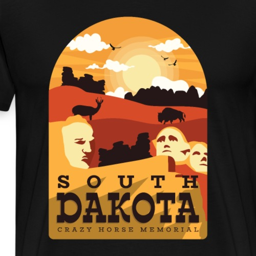 Cooles South Dakota Design online - Männer Premium T-Shirt