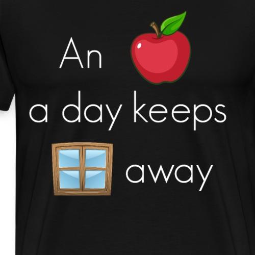 An Apple a day keeps windows away Betriebssystem - Männer Premium T-Shirt