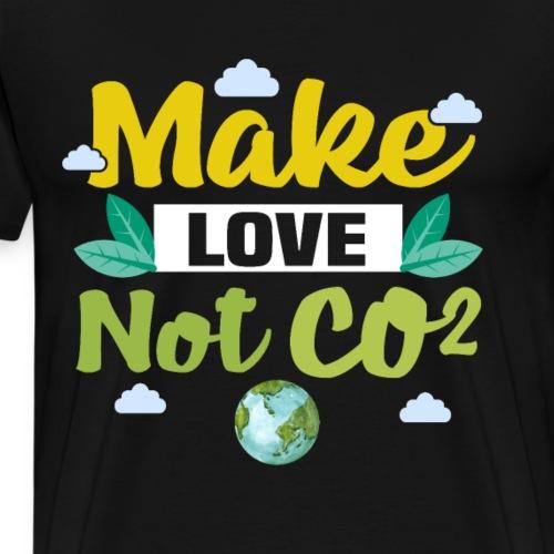Make love not co2 - Männer Premium T-Shirt