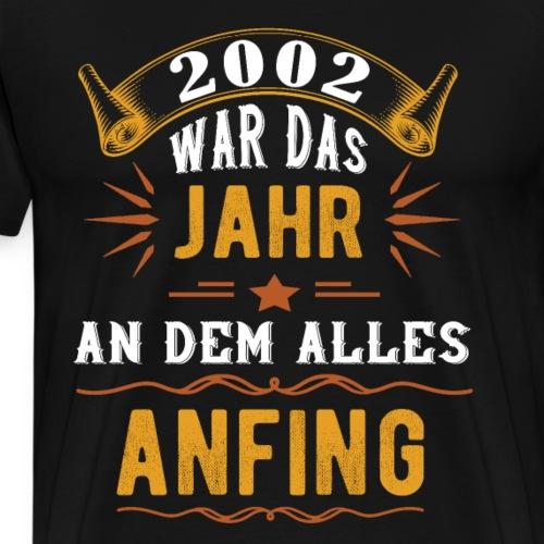 2020 Geschenk 2002 18 Jahre | Geburstag Blickfang - Männer Premium T-Shirt