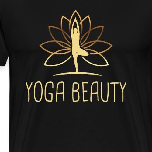 Yoga Schönheit - Männer Premium T-Shirt