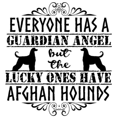 Afghan Hound Angels - Miesten premium t-paita