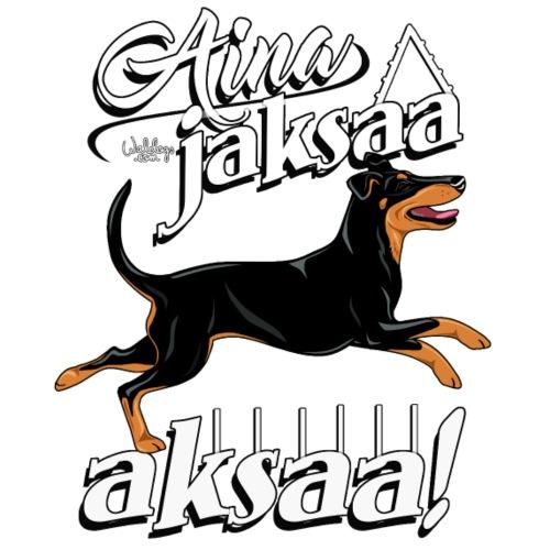 Manssi Jaksaa Aksaa - Miesten premium t-paita