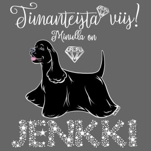 Jenkki Timantti 5 - Miesten premium t-paita