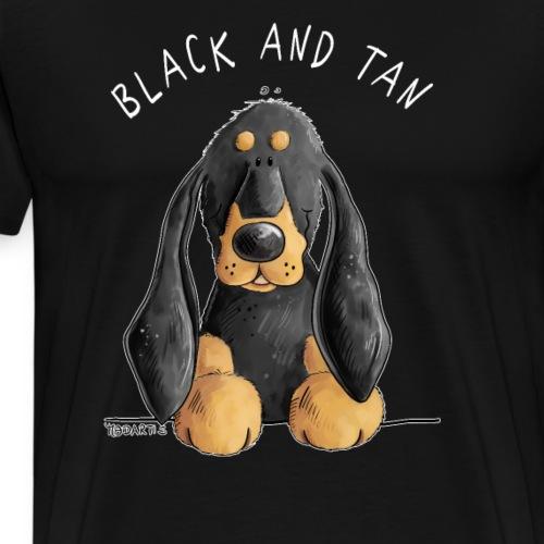 Black And Tan Coonhound Comic Hund - Männer Premium T-Shirt