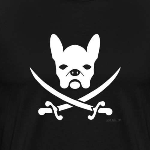 weiße Bulldogge Pirat - Männer Premium T-Shirt