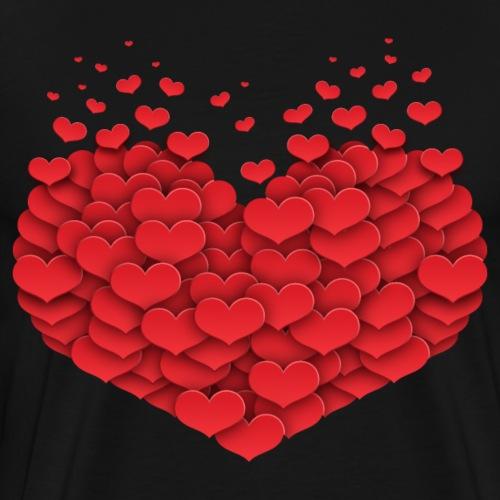Herz der fliegenden Herzen - Männer Premium T-Shirt