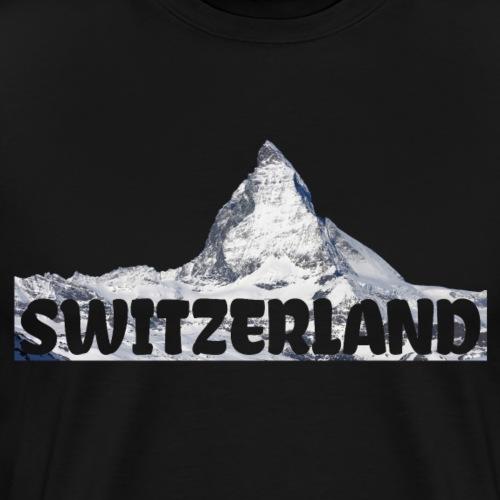 Switzerland Matterhorn Bergsteiger Skifahrer - Männer Premium T-Shirt