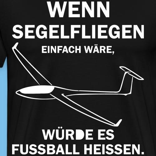 fussball segelflieger Geschenk lustig Flieschen - Männer Premium T-Shirt
