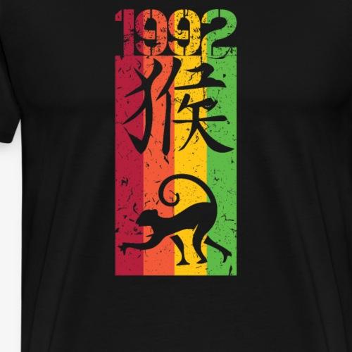 Né(e) en 1992, signe astrologique chinois du SINGE - T-shirt Premium Homme