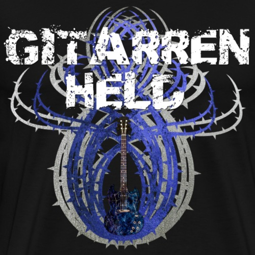 Gitarrenheld Dornen dkbla - Männer Premium T-Shirt