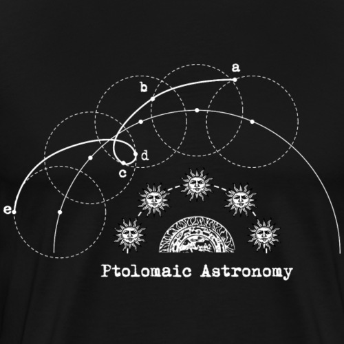 Ptolomeic Astronomy - Men's Premium T-Shirt