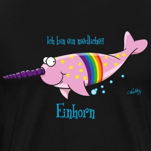 Narwal Einhorn - Männer Premium T-Shirt
