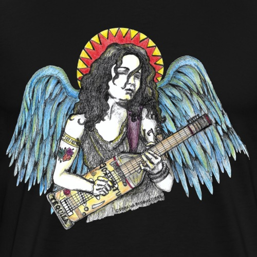 Angelita guitarrista - Premium-T-shirt herr
