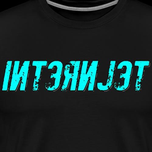 Internjet cyan - Miesten premium t-paita