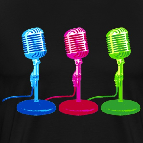 Microphone Mikrofon Retro Nostalgie - Men's Premium T-Shirt