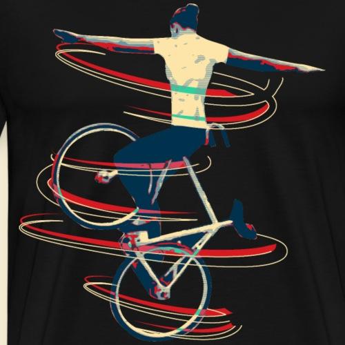 Kunstrad   Steuerrohrsteiger - Männer Premium T-Shirt