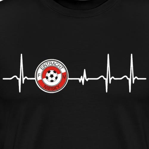 Herzschlag Frequenz FV Eintracht Niesky - Männer Premium T-Shirt