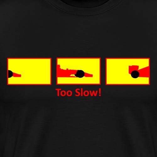 red formula 1 on white - Men's Premium T-Shirt
