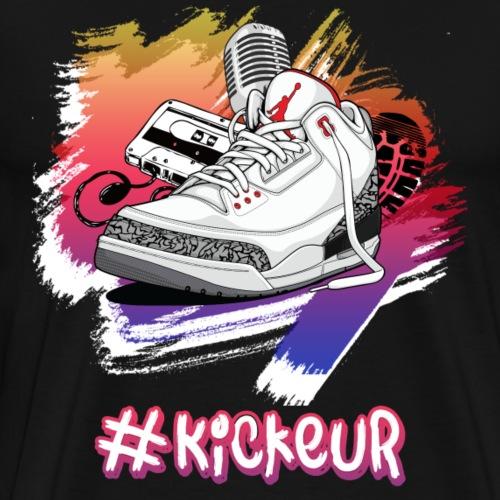 #Kickeur Blanc - T-shirt Premium Homme