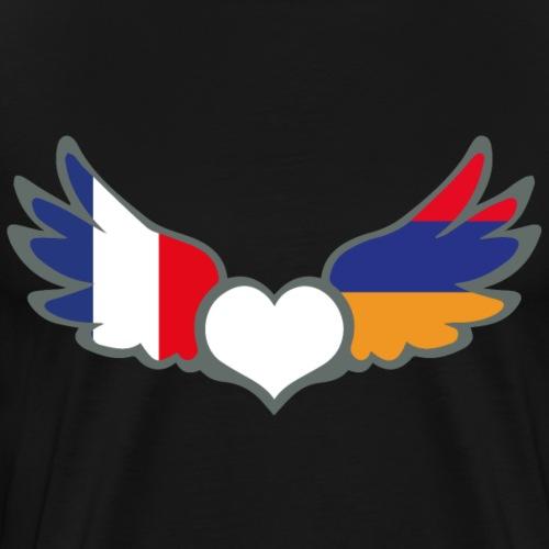 Drapeaux Français et Arménien France Arménie II - T-shirt Premium Homme