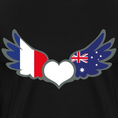 Drapeaux Français et Australien France Australie 2 - T-shirt Premium Homme